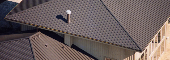 Brown Standing Seam Metal Roofing